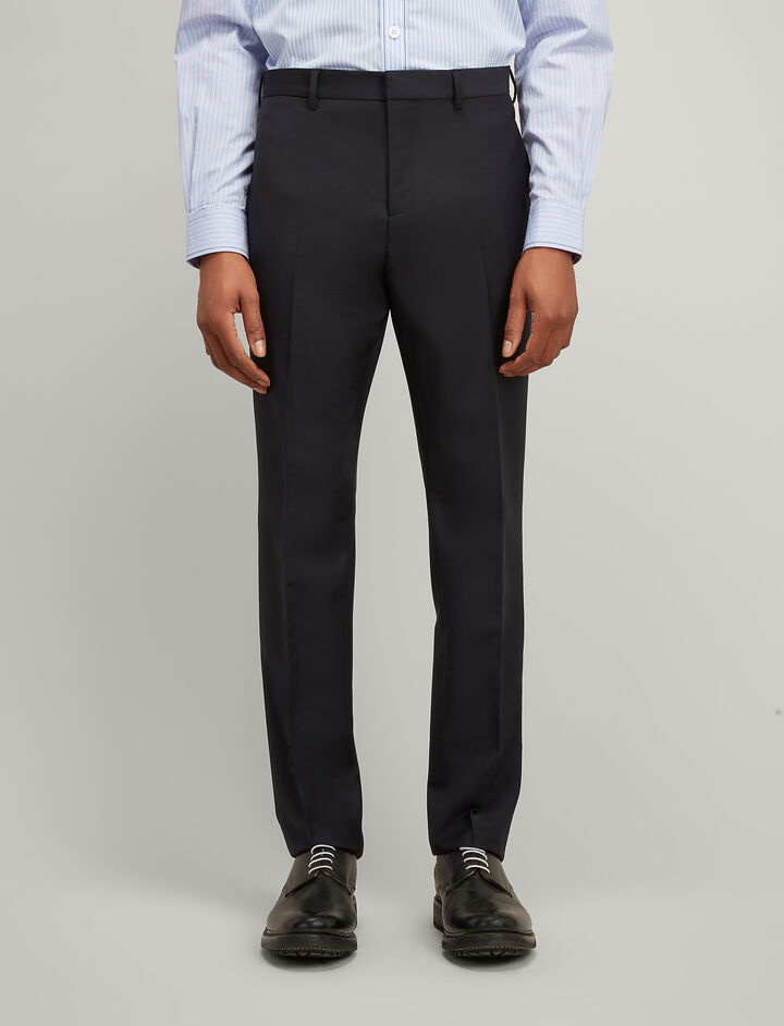 Joseph, Wool Mohair Jack Trousers, in NAVY